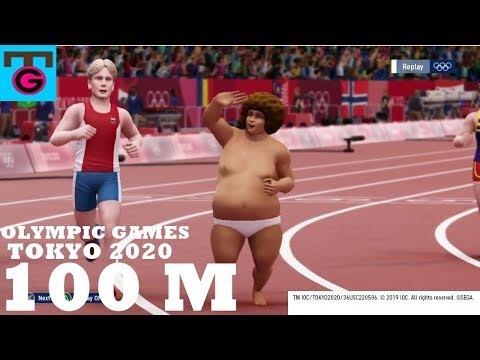 OLYMPIC GAMES TOKYO 2020 (100M) PS4 Gameplay Walktrough
