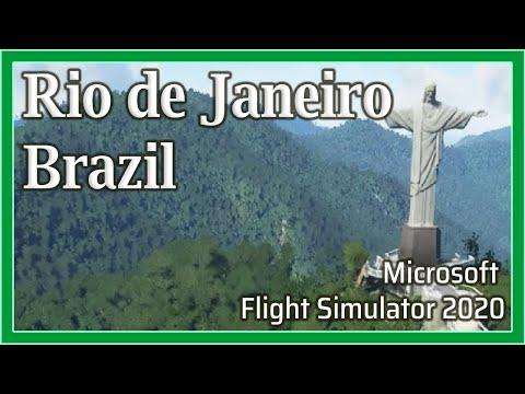 Flight Simulator 2020: Rio de Janeiro, Brazil - 1080p HD