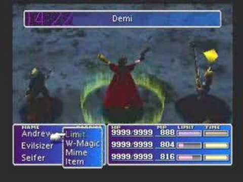 FFVII Emerald Weapon Fight