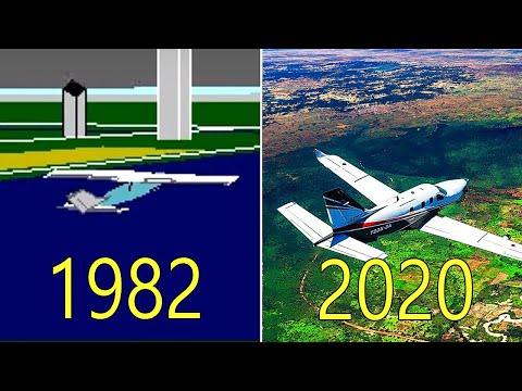 Evolution of Microsoft Flight Simulator 1982-2020
