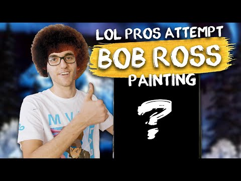 """CAN LOL PROS PAINT LIKE BOB ROSS?   C9 LoL Attempt To Follow Bob Ross's """"The Joy of Painting"""""""