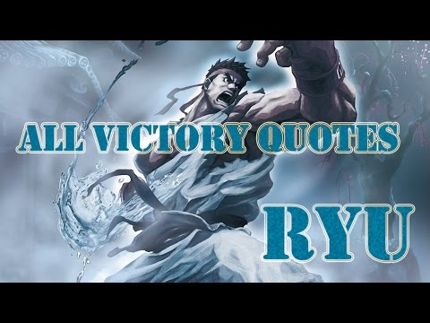 Ryu - All Victory Quotes ( ARCADE MODE ) / Ultra Street Fighter 4