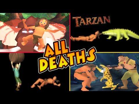 Tarzan All Deaths & Fails | Game Over (PS1, N64, PC)