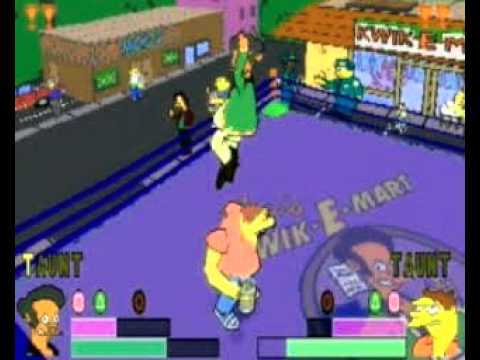 The Simpsons Wrestling trailer (PS1)