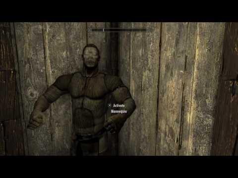 Skyrim Creepy Mannequin Glitch