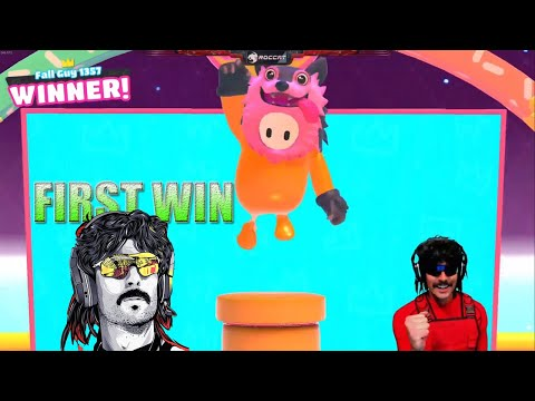 Dr Disrespect FIRST WIN IN FALL GUYS | Dr Disrespect FALL GUYS STREAM HIGHLIGHTS